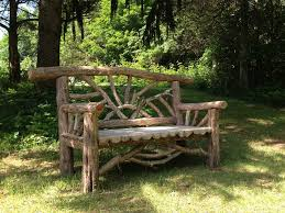 Butterfly Bench Outdoor Rustic Benches Park Benches Patio Furniture Tree