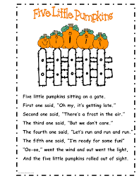 Halloween Poems Children I Sing This With The Kids At My Preschool U0026 They Love It Pumpkin