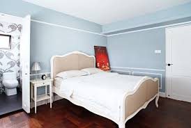 a european inspired hdb flat why not home decor singapore the walls of the master bedroom are a lovely shade of french blue note the mouldings and the choice of bed as well