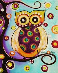 whimsical owl design actually very very simple to paint and you
