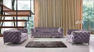 Brown Fabric Sofa Set Divani Casa Delilah Modern Grey Fabric Sofa Set