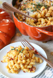pumpkin mac and cheese with bacon inspired by charm
