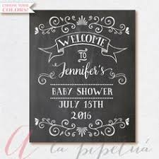 baby shower welcome sign baby shower chalkboard baby shower sign by sugarandchicshop
