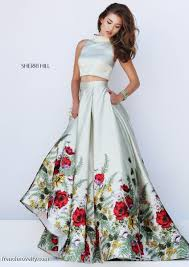 sherri hill 50270 floral 2pc prom gown french novelty