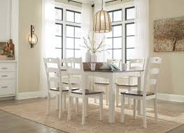 Hamlyn Dining Room Set by Woodanville White And Brown 7 Piece Dining Room Set From Ashley