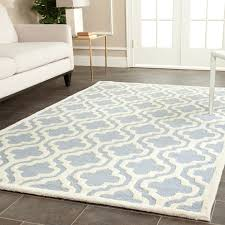 9 X 6 Area Rugs Safavieh Handmade Traditional Moroccan Cambridge Light Blue Wool