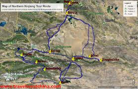Taklamakan Desert Map Maps Of Xinjiang And Silk Road Travel West China