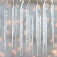 frosted glow in the acrylic icicle ornaments