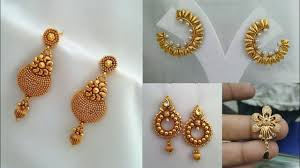 latkan earrings daily wear simple gold earrings design ideas beautiful gold