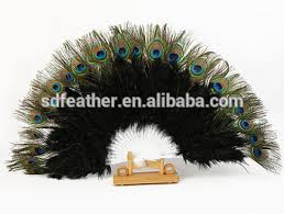 feather fan peacock feather fan for party fashioned masquerade props handmade