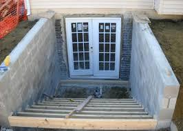 exterior basement door installation outside basement door ideas