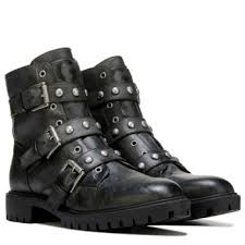 guess boots womens g by guess prez studded combat boot black
