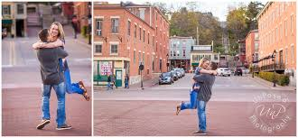 Galena Illinois A Downtown Galena Sunset Engagement Session