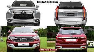 mitsubishi pajero interior 2016 benim otomobilim 2016 ford everest vs 2016 mitsubishi pajero