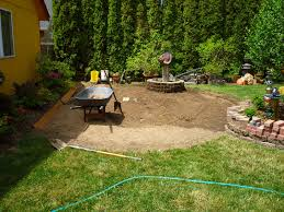 Diy Patio With Pavers Wow Thats A Busy Garden Creating A Paver And Pebble Mosaic Patio