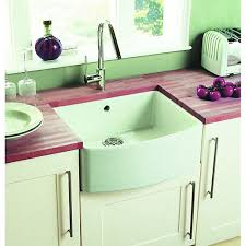 Wickes Bow Front  Bowl Kitchen Sink Ceramic White Wickescouk - Ceramic kitchen sinks uk