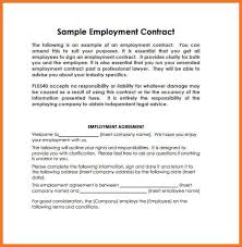 example of employment contract sow template