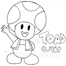 mario toad coloring pages getcoloringpages com