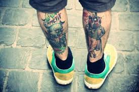 25 simplistic leg tattoos for men that exactly what you are