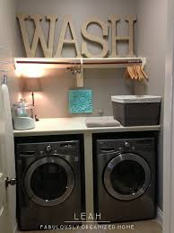 Laundry Room Storage Between Washer And Dryer by Simplify And Organize Your Laundry Room Closet When I Redecorate