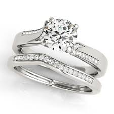 Italian Wedding Rings by Exclusive Italian Design Diamond Engagement Ring With Accents