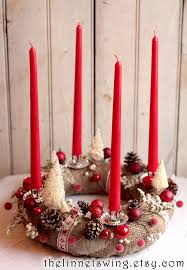 Advent Decorations Traditional German Advent Wreath An Advents Kranz To Count The