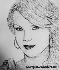 taylor swift sketch by edartgeek on deviantart