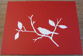 decor basic painting on canvas learning with bird painting for