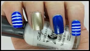 nautical nail art lazy betty