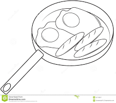 fried egg coloring page fried eggs and hotdog coloring page stock
