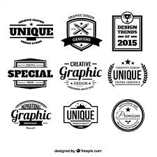 design badges in retro style vector free