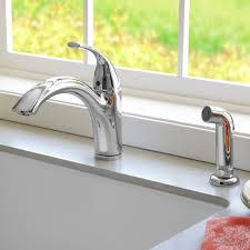 quince 1 handle kitchen faucet with side spray american standard