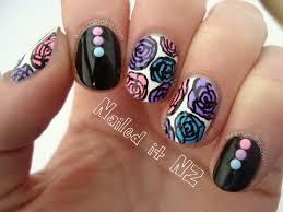 nailed it nz pink purple u0026 blue rose nail art pastel studs review