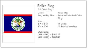 Belize Flag Cgi Products Belize Souvenirs