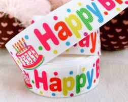 happy birthday ribbon birthday ribbon etsy