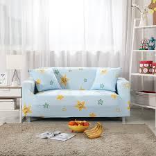 canapé lavable salon canapé couverture bleu clair mignon étoiles imprimé housse