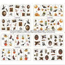 halloween nail tattoos sticker nail art water decal buy holiday