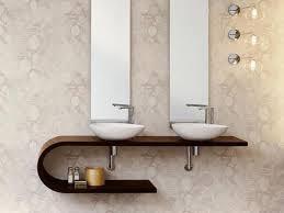 White Bathroom Vanity Ideas by Bathroom Curved Dark Brown Wooden Open Shelf Vanity With Double