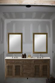 Large Mirror Bathroom Cabinet One Large Mirror Or Two Individual Mirrors Vanity