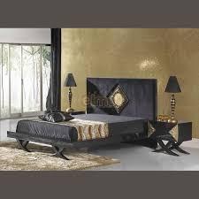 chambre baroque noir et chambre adulte complète 5 pièces baroque contemporain noir et or
