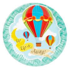 wedding party plates 8pcs 7inch hot air balloon theme paper plates birthday wedding