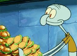 Spongebob Krabby Patty Meme - spongebob squarepants food gif find download on gifer by