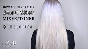 silver blonde color hair toner how to silver hair special effects mixer toner hd youtube