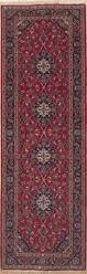 Red Runner Rug Persian Kashan Red Runner 10 To 12 Ft Wool Carpet 11554