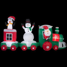 Home Depot Inflatable Christmas Decorations Home Accents Holiday 11 Ft Lighted Inflatable Car Train Scene