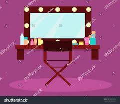 interior dressing room actress singer vector stock vector