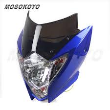 street fighter blue headlight for yamaha xt 660 125 wr450 yz250
