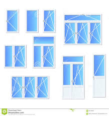 set of different types of doors stock illustration image 59468142