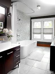 white tiled bathroom ideas black and white tile bathroom decorating ideas home interior