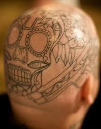 skull on